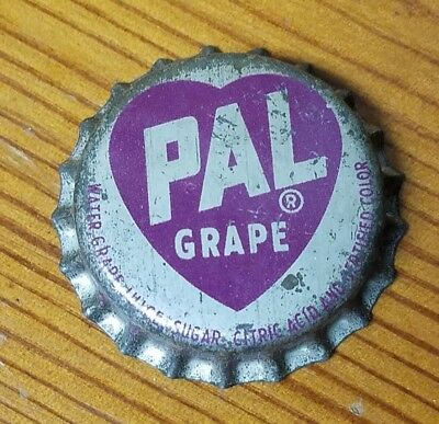Rare PAL Cola Grape Soda Unused Cork Lined Bottle Cap Fallston N.C.