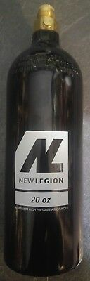 New Legion 20 OZ CO2 gas Tank On Off Ventil flasche / paintball Gotcha