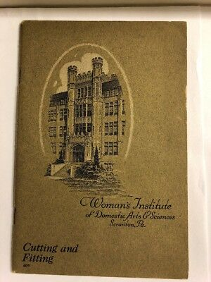 1923 Women's Institute Of Domestic Arts & Sci. Cutting And Fitting  # 409 EP16