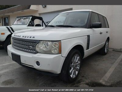 Range Rover Supercharged Supercharged 4dr SUV 2007 Land Rover Range Rover Supercharged HSE White FL