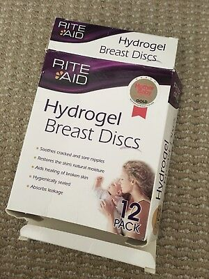 Rite Aid hydrogel breast discs, in open box but 12 discs included