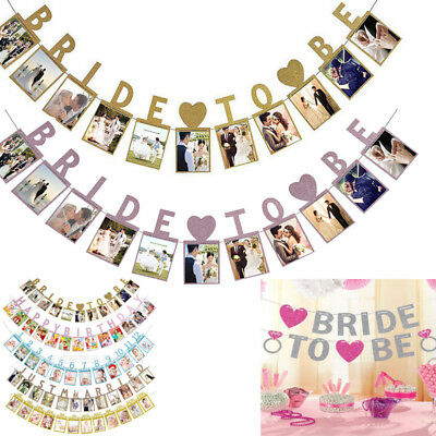 Bride To Be Hen Do Party Photo Bunting Banner Garland Decor Wedding Bridal Props