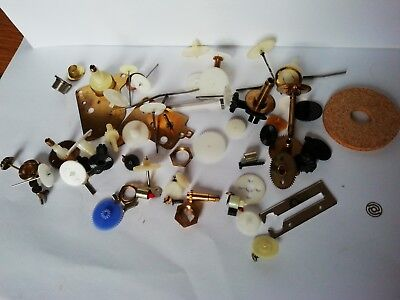reclaimed clock parts  spares /repairs / crafting/steam punk cogs etc
