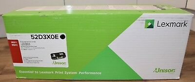 New Genuine Lexmark 52D3X0E Extra High Yield Black Toner Cartridge (45k Pages)
