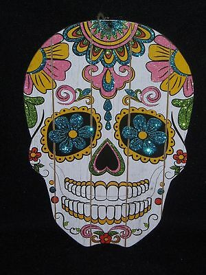 Day Of The Dead Sugar Skull Wood Plaque