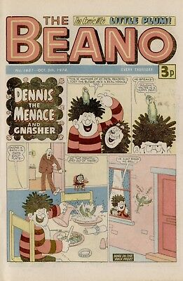 The Beano Comic #1681 October 5th 1974 - very good condition