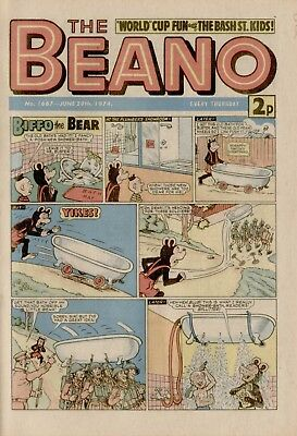 The Beano Comic #1667 June 29th 1974 - very good condition