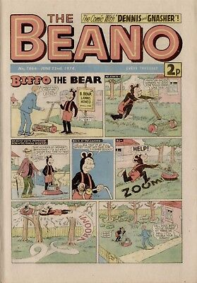 The Beano Comic #1666 June 22nd 1974 - very good condition