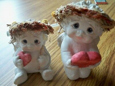 Dreamsicles Angel Cherub Figurine Set of Two (One Is Signed)