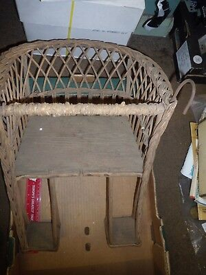 Unusual Vickar -Antique Child's Wooden Seat For Vintage Bicycle with metal hooks