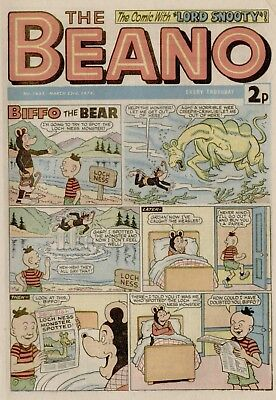 The Beano Comic #1653 March 23rd 1974 - very good condition
