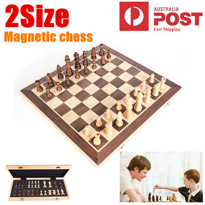 40x40 Magnetic Large Chess Wooden Set Folding Chessboard Pieces Wood Board Gift