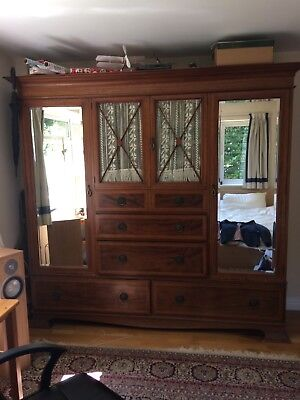 large victorian wardrobe, excellent original piece in lovely condition