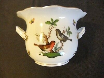 Herend Rothschild Bird Ltd. Ed. Large Cache Pot in Mint Condition with Handles