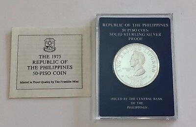 1975 Philippines 50-Piso Proof Silver Coin