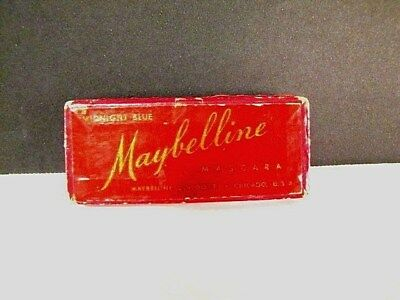 Vintage Maybelline Cake Mascara for Lashes Brows Midnight Blue w Original Brush