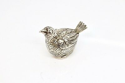 A Nice Antique Vintage Solid Silver Indian Chicken Pill Box
