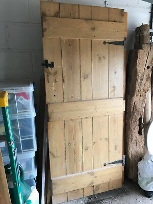 Stripped old cottage panel doors