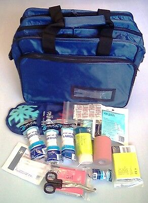 Sports First Aid Kitted Blue Touchline Bag Rugby Football *FREE PRINTING*