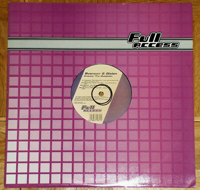 """12"""" Vinyl Svenson & Gielen - Answer The Question / We Know What You Did..."""