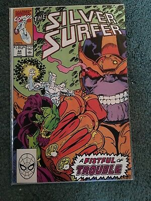 Silver Surfer #44 (Dec 1990, Marvel) First Gauntlet, Key Thanos!