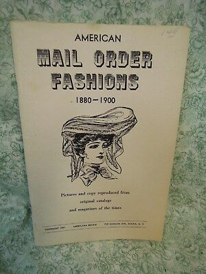 rm-342  FASHIONs book, paperback: 'American Mail Order Fashions': 1880-1900