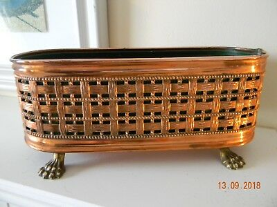 Vintage Oval Copper and Brass Garden / Conservertory Planter