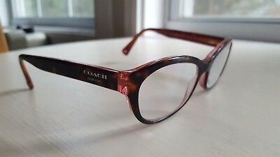 Tortoise with pink Coach glasses frames, womens