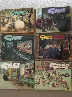 Collection of 6 Giles Comic Books - Daily Express Publication