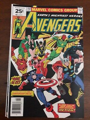 Marvel Comics The Avengers #150, 151, 152, 154, 155 - 1976/1977
