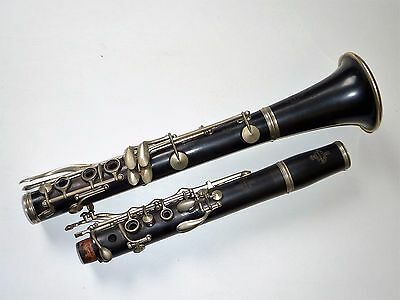 """Late 1940/50'S Vintage Wooden Buffet Crampon Paris """"Bb"""" Clarinet Made in France"""