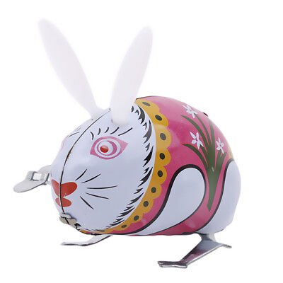 Kids Boys Girls Rabbit Run Wind Up Toys Clockwork Cartoon Educational Toy LH