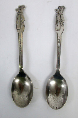 Vintage Yogi Bear Spoon By Old Company Plate - Pair (2 Spoons)