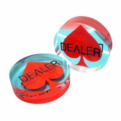 Acrylic Poker Dealer Button Hockey Puck NEW 3 Inch Poker Stars Style USA Seller