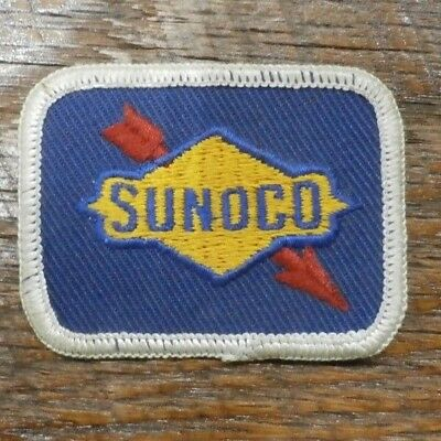 "Vintage 1960's SUNOCO Cloth Patch-Gas & Oil Advertising- 2"" X 2.5"""