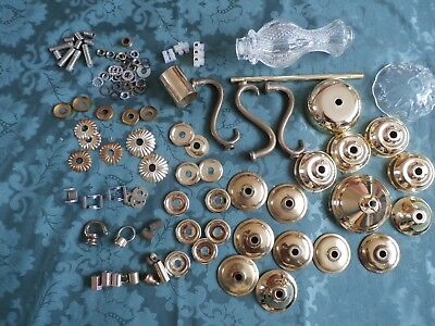 A mixture of chandelier spares.