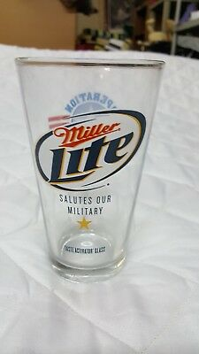 Miller Lite Salutes Our Military, Glass, Operation Homefront, Glassware