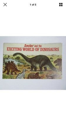 """SINCLAIR AND THE EXCITING WORLD OF DINOSAURS"" Booklet (1967)"