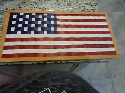 Longaberger  Unique Flag Wall Hanging Picture 15 X 9  Americana