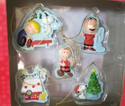 Peanuts Holiday Christmas Ornaments Set Seasons From Hallmark 2010 - 2in Tall