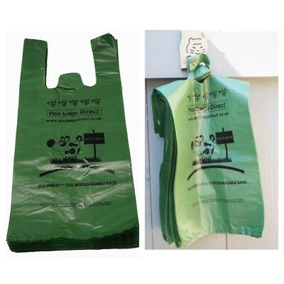 Poo Bags Direct - Thick Strong Large Oxo-Biodegradable Tie Handle Dog Poo Bags