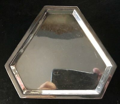 Mappin & Webb Art Deco Silver Plated Card Tray