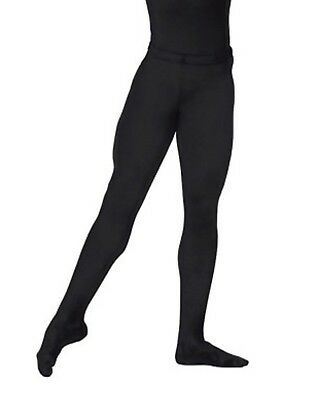 9c16b06c8c77f Boys Dance Tights Ballet Footed Thick Cotton Stretch Black Kids Youth 1308F  USA