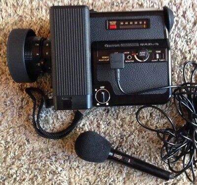 Canon Canosound 514XL-S Super 8 Camera with Canon Mic DM 30R and Carrying Case.