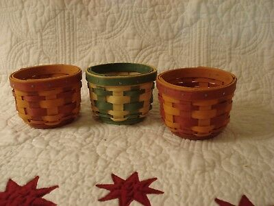 Longaberger 3 Little Pumpkin Baskets