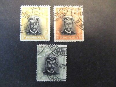 BRITISH SOUTH AFRICA COMPANY, RHODESIA, 3d, 4d & 5d (1913)
