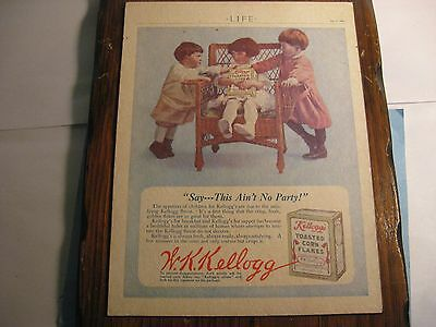 Antique 1913 Kellogg's Advertisement