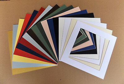 Cardboard SQUARE PICTURE MOUNTS to fit 40x40cm Picture Frame for 30x30cm Print