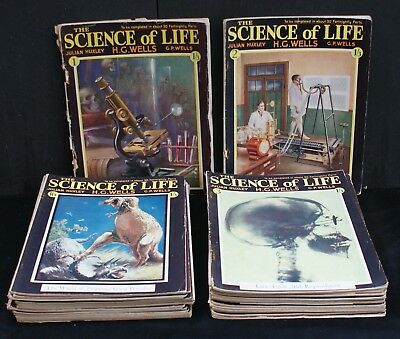 Thirty One Issues of 'The Science of Life' Magazines-H.G.Wells-Julian Huxley