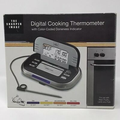 The Sharper Image Digital Cooking Thermometer Color-coded Doneness Indicator